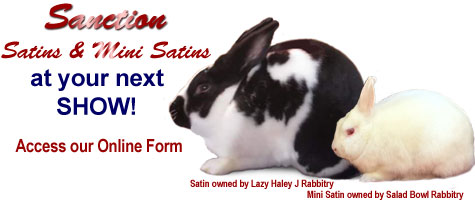 Sanction Satins and Mini Satins at your next show!