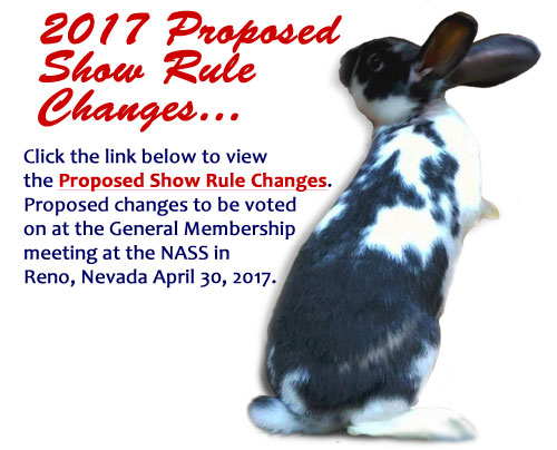 2017 Proposed Show Rule Changes